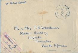 1941 , SOBRE CENSURADO Y CIRCULADO ENTRE DAR ES SALAAM  Y UMTATA ( MTHATHA ) , FECHADOR A.P.O. 68 - Kenya, Uganda & Tanganyika