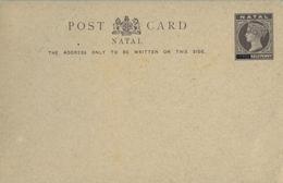 NATAL , ENTERO POSTAL SIN CIRCULAR - HALF PENNY - África Del Sur (...-1961)