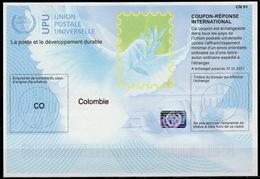 COLOMBIE / COLOMBIA  Is40  20171219 AA International Reply Coupon Reponse Respuesta Antwortschein IRC IAS Hologram MINT - Kolumbien