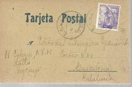TARJETA POSTAL 1942  ZALLA-VIZCAYA - 1931-50 Cartas