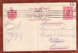 P 56 Koenig Karl, Bukarest? Nach Olten 1914 (75765) - Ganzsachen