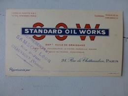Automobile Huile SOW Standard Oil Works, Samson Chauvigny (86300) Carte Publicitaire ; Ref297 ; PAP03 - Pubblicitari