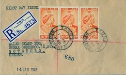 1948 , KENYA , TANGANYIKA & UGANDA , SOBRE CERTIFICADO TANGA - GOTEBORG , AL DORSO TRÁNSITO DE MOMBASA , CORONACIÓN - Kenya, Uganda & Tanganyika