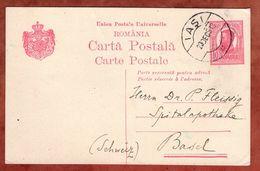 P 56 Koenig Karl, Fernschach, Iasi Nach Basel 1913 (75768) - Ganzsachen