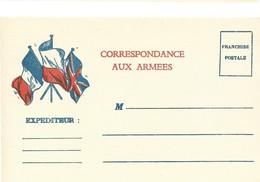 CARTE EN FRANCHISE MILITAIRE - CORRESPONDANCE AUX ARMEES- NON ECRITE - TRES BON ETAT - Marcofilia (sobres)