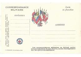CARTE EN FRANCHISE MILITAIRE - ESPOIR ET SALUT DE LA FRANCE - NON ECRITE - TRES BON ETAT - Marcofilia (sobres)