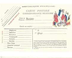 CARTE EN FRANCHISE MILITAIRE  - NON ECRITE - TRES BON ETAT - Marcofilia (sobres)