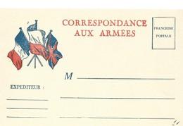 CARTE EN FRANCHISE MILITAIRE  - CORRESPONDANCES AUX ARMEES - NON ECRITE - TRES BON ETAT - Marcophilie (Lettres)