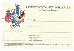CARTE EN FRANCHISE MILITAIRE  - CORRESPONDANCE MILITAIRE - NON ECRITE - TRES BON ETAT - Marcofilia (sobres)