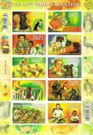 South Africa - 2004 Gift From Volunteers Sheet (**) # SG 1483a , Mi 1575-1584 - Berufe