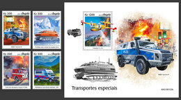 ANGOLA 2019 - Special Transport, 4v + S/S. Official Issue - Other Means Of Transport