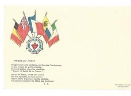 CARTE EN FRANCHISE MILITAIRE  - ESPOIR ET SALUT - PRIERE DU FRONT - NON ECRITE - TRES BON ETAT - Postmark Collection (Covers)