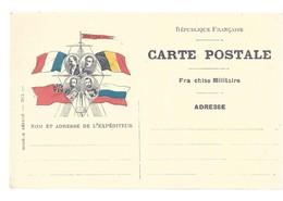 CARTE EN FRANCHISE MILITAIRE  - MODELE RARE- NON ECRITE - TRES BON ETAT - Marcofilia (sobres)