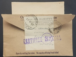 GE Lebanon Superb 1942 Stampless Official Cover Sent & Returned To The British 9th Army HQ Field Post 6 (Aley) ! - Lebanon