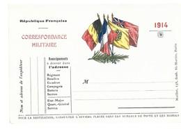 CARTE EN FRANCHISE MILITAIRE  - DRAPEAUX (16) - NON ECRITE - TRES BON ETAT - Marcophilie (Lettres)