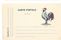CARTE EN FRANCHISE MILITAIRE  - COQ - NON ECRITE - TRES BON ETAT - Marcophilie (Lettres)