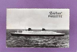 Paquebot  FRANCE A Bord Du FRANCE  On Déguste Les Bieres PAILLETTES  Publicité - Advertising