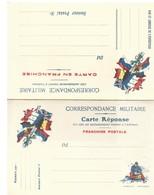CARTE EN FRANCHISE MILITAIRE  - CARTE DOUBLE  - NON ECRITE - TRES BON ETAT - Marcofilia (sobres)