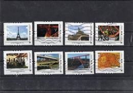 Lot De 8 Collectors : Tour Eiffel Et Autres.  Oblitérés - France