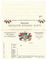 CARTE EN FRANCHISE MILITAIRE  - CARTE DOUBLE  - NON ECRITE - TRES BON ETAT - Postmark Collection (Covers)