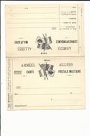 CARTE EN FRANCHISE MILITAIRE  - CARTE DOUBLE (6) - ARMEES ALLIEES - NON ECRITE - TRES BON ETAT - Postmark Collection (Covers)