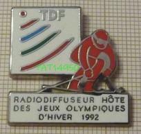 FRANCE TELECOM TDF RADIODIFFUSEUR DES JEUX OLYMPIQUES D'HIVER 1992 ALBERTVILLE 92 En Version ZAMAC Bord Métallisé - Olympische Spelen