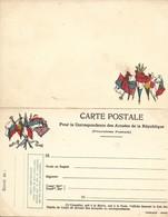 CARTE EN FRANCHISE MILITAIRE  - CARTE DOUBLE (9)  - NON ECRITE - TRES BON ETAT - Postmark Collection (Covers)