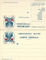 CARTE EN FRANCHISE MILITAIRE  - CARTE DOUBLE (12)  - HONNEUR ET PATRIE- NON ECRITE - TRES BON ETAT - Postmark Collection (Covers)