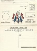 CARTE EN FRANCHISE MILITAIRE  - CARTE DOUBLE (15)  - MODELE RARE - NON ECRITE - TRES BON ETAT - Marcofilia (sobres)