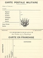 CARTE EN FRANCHISE MILITAIRE  - CARTE DOUBLE (16)  - NON ECRITE - TRES BON ETAT - Marcofilia (sobres)