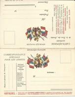 CARTE EN FRANCHISE MILITAIRE  - CARTE DOUBLE (18)  - NON ECRITE - TRES BON ETAT - Marcofilia (sobres)