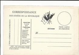 CARTE EN FRANCHISE MILITAIRE  - CARTE DOUBLE (25)  - NON ECRITE - TRES BON ETAT - Marcofilia (sobres)