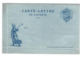 CARTE EN FRANCHISE MILITAIRE  - CARTE LETTRE DE L'AVENIR  - NON ECRITE - TRES BON ETAT - Marcofilia (sobres)