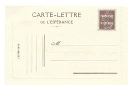 CARTE EN FRANCHISE MILITAIRE  - CARTE LETTRE   - NON ECRITE - TRES BON ETAT - Marcophilie (Lettres)