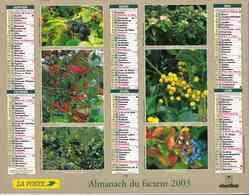 °° Calendrier Almanach La Poste 2003 Oberthur - Dépt 86 - Baies Et Champignons - Kalenders