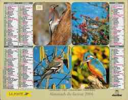 °° Calendrier Almanach La Poste 2004 Oberthur - Dépt 86 - Oiseaux - Kalenders