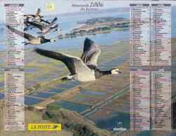 °° Calendrier Almanach La Poste 2006 Oberthur - Dépt 86 - Vol D'oies Sauvages - Kalenders
