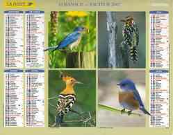 °° Calendrier Almanach La Poste 2007 Oberthur - Dépt 86 - Oiseaux - Kalenders