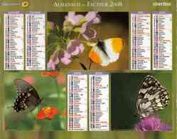 °° Calendrier Almanach La Poste 2008 Oberthur - Dépt 86 - Papillons - Kalenders