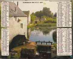°° Calendrier Almanach PTT 1977 Oberthur - Dépt 86 - Moulins à Eau - Calendriers