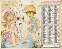 °° Calendrier Almanach PTT 1984 Oberthur - Dépt 86 - Scènes Avec Des Enfants (dessins) - Calendars
