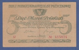 Banknote Polen 1919 5 Mark (Marek Polskich) Bartosz Glowacki - Polen