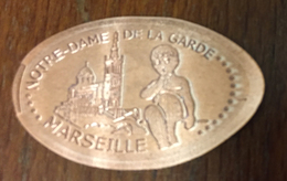 13 MARSEILLE NOTRE DAME DE LA GARDE ANGELOT 1 PIÈCE DE 5 CENT ÉCRASÉE ELONGATED JETON COINS MONNAIE - Pièces écrasées (Elongated Coins)
