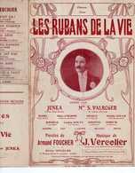 CAF CONC RÉALISTE JUNKA PARTITION ALTERNATIVE LES RUBANS DE LA VIE 1909 ILL ART DÉCO GOBERT VERCOLIER FOUCHER VALROGER - Musique & Instruments