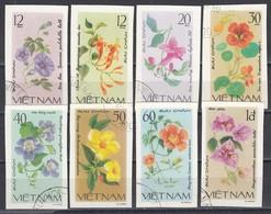 Vietnam 1980 - Flowers - Imperforated, Canceled - Vietnam