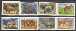 Vietnam 1981 - Wild Animals - Imperforated, Canceled - Vietnam