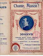 CAF CONC ROMANCE HYPER RÉALISTE JOANYD PARTITION ALTERNATIVE CHANTE MANON TRÉBITSCH VARGUES POURIÈRE 1909 ILL POUSTHOMIS - Musique & Instruments