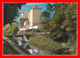 CPSM/gf (77) LIZY-sur-OURCQ.  Le Canal De L'Ourcq Et Le Silo...F074 - Lizy Sur Ourcq
