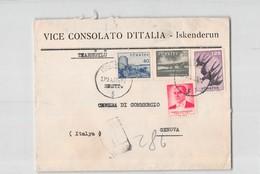 AG1723 05 VICE CONSOLATO D'ITALIA ISKENDERUN TO GENOVA - 1921-... Repubblica