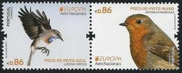 """PORTUGAL  - EUROPA 2019.- """"AVES -BIRDS -VÖGEL-OISEAUX""""-  SELLOS  De La  HOJITA BLOQUE - 2019"""